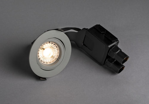 Hidealite Comfort Outdoor IP44 LED-Alasvalo, Harmaa